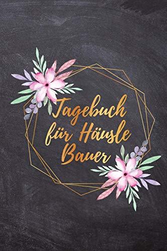 Tagebuch für Häuslebauer: Hausbaubuch für zukünftige Hausbesitzer, Punkteraster Dot Grid Tagebuch, DIN A5, 120 Seiten
