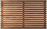 Bare Decor Zen Shower, Spa, Door Mat in Solid Teak Wood and Oiled Finish, Large: 31.5' x 19.5'