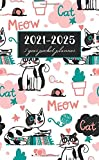 5 Year Pocket Calendar 2021-2025: Cute Cat Cover | 2021-2025 Pocket Monthly Planner for 5 Year Plan | 60 Month Calendar Agenda Schedule Organizer | ... Size | Business or Personal Time Management
