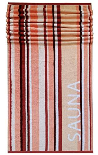 Lashuma Helsinki - Toalla para Sauna, 85 x 200 cm, XXL, 100% algodón, Piel – salmón