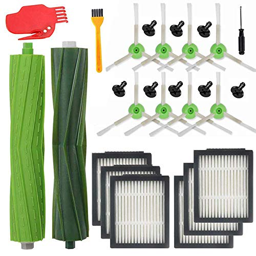 filtros de limpieza para el hogar // i7 plus E5 E6 E7 bolsas de suciedad para robots Kit de herramientas de repuesto para aspiradora adecuado para iRobot Roomba i7 Mumuj 9 unidades