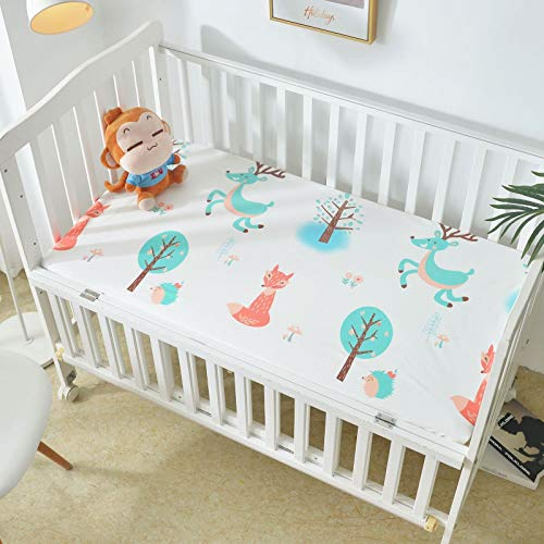 haiba Funda de colchón impermeable – Protector de colchón de cuna – Sábana hipoalergénica para cama de bebé
