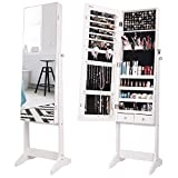 Nicetree Jewelry Cabinet with Full-Length Mirror, Standing...