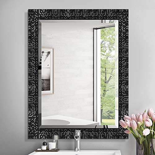 MIRROR TREND 24 x 32 Inches Silver Beveled Mirrors for Wall Mirrors -