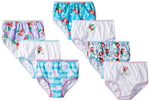 Disney Toddler Girls Ariel 7 Pack Panty, Assorted, 4T