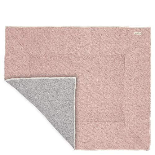 Koeka - Laufstalldecke - Laufstalleinlage - Laufgittereinlage - Spielmatte - Krabbeldecke - Vigo - Jacquard-Strickstoff - Waschbar - Pink/Grau - 80X100 Cm