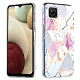 LOCLOUD Funda de Mármol para Samsung Galaxy A12, Slim Soft Silicona TPU...