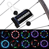 VGEBY Fahrrad LED Speichenlichter Fahrrad Dual Side 14 LED RGB Speichenlicht Drahtlampe Zubehör für Mountainbike