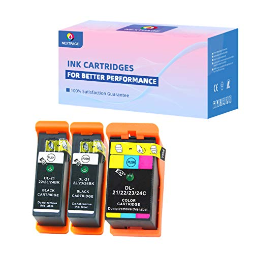 Compatible Dell Series 21 Ink cartridges Replacement for Dell Series 21, 22, 23, 24 Ink Cartridges Work for Dell V313 V313W V515W P513W P713W V715W Printer, Dell v515w Ink Cartridges 3 Pack