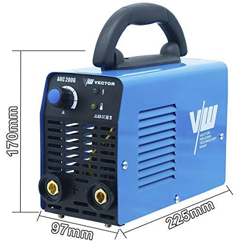 VECTOR Schweißgerät ARC 200G Elektrodenschweißgerät Elektroden-Schweißgerät Elektroschweißgerät IGBT ARC MMA STICK Elektrode E-HAND INVERTER WELDER