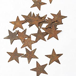 Factory Direct Craft Bulk Package of 100 Primitive Rusty Tin Stars for Weddings, Decorating, and Crafting