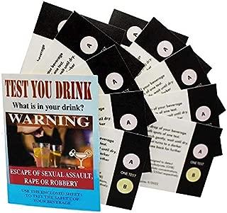 Test You Drink Kit 10 Strips - 20 Tests. Test Date Rape Drug Detection. Test GHB - Ketamine for Personal Safety