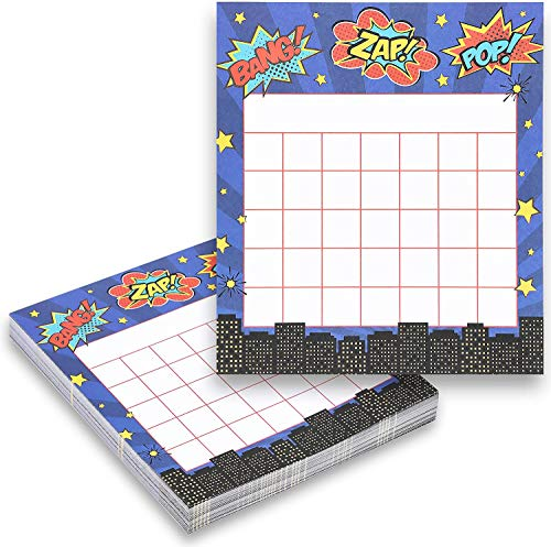 Comic Book Hero Behavior Incentive Charts for Home and School (6 x 5.25 in, 60 Cards)