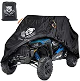 ClawsCover Upgrade UTV Covers Waterproof Accessories,115 Inches XL Heavy Duty 420D Oxford Material All Weather Outdoor Side by Side UTV Cover with Storage Bag,Sun Dust Snow Rain UV Protection Cover