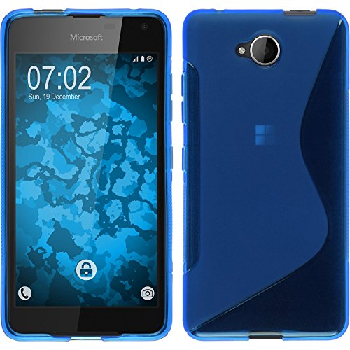 PhoneNatic Case kompatibel mit Microsoft Lumia 650 - blau Silikon Hülle S-Style Cover