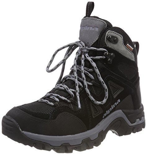 alpina Unisex-Erwachsene 680405 Trekking- & Wanderstiefel, Schwarz (Schwarz (1), 46 EU