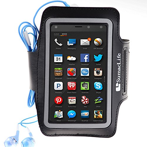 Sports Armband for iPhone 6 4.7inch, Samsung Galaxy S5 Active, Black