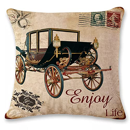 Funda Cojine sofá Decorar Funda Almohada Noble Cars funda de almohada decoración de la boda sofá funda de cojín ropa de cama funda de almohada para silla de sala de estar coche decor hogar regalo