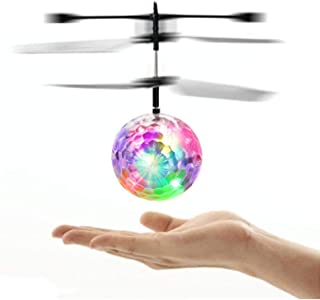 SN-RIGGOR Glow in Dark LED Light Flying Ball RC Toy - LED Light RC Flying Ball, RC Drone Helicopter Ball Built-in Shinning LED Lighting for Kids, Teenagers Colorful Flyings for Kid's Toy