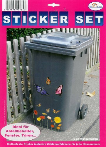 "My Home Mülltonnen-Sticker""Schmetterling"""