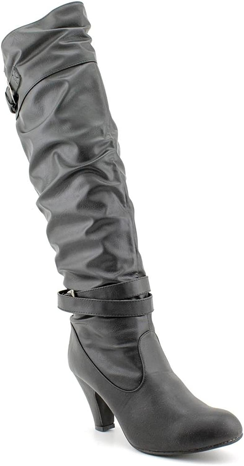 Rampage Pammy 1 Womens Size 6.5 Black Synthetic Fashion - Knee-High Boots