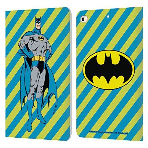 Head Case Designs Licenciado Oficialmente Batman DC Comics Rayas Moda Vintage Carcasa de Cuero Tipo Libro Compatible con Apple iPad Mini (2019)