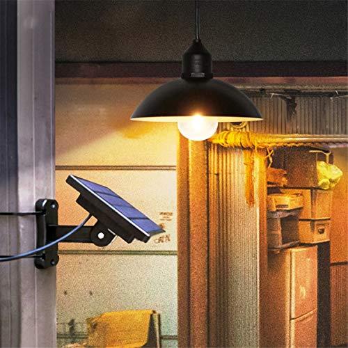 Not a brand Panel Solar LED Colgante Retro Lámpara de Techo de la lámpara Colgante Araña de jardín al Aire Libre Carretera por el Patio del jardín Camino de Entrada Camino