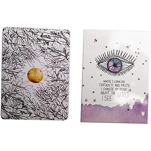 GXLO Tarjetas de Juego Tarot Card Universe Oracle Divination Cards Tiene tu Espalda Transformar el Miedo a la fe Conjunto de Cartas de Tarot de 52 Cartas