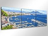 degona quadro moderno napoli - cm 150x50 stampa su tela canvas arredamento arte arredo