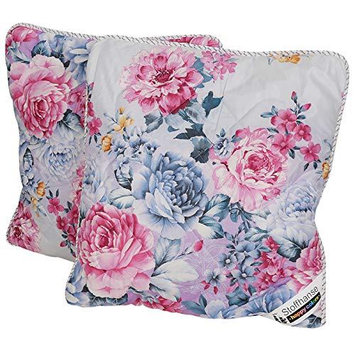 Stoffhanse Kissen 80 x 80 cm, 2er Set floral | Bettwaren | Kopf-Kissen | nach Öko-Tex Standard