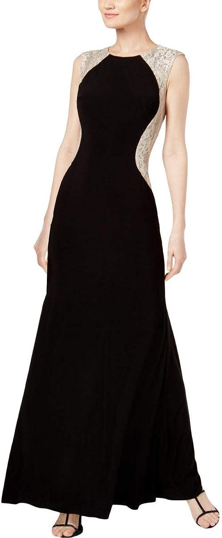Xscape Womens LaceTrim ALine Evening Dress