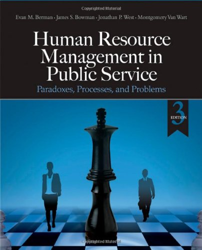 Human Resource Management In Public Service Paradoxes Processes And Problems