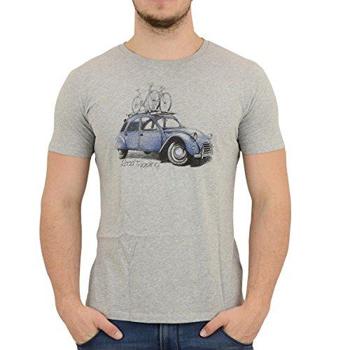 Greenbomb Fahrrad Männer T-Shirt Bike Road Trip grau - XL