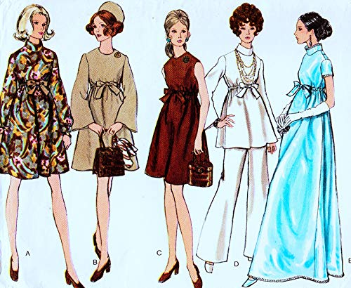 Very Easy Very Vogue 7632 Misses Maternity Evening Dress, Tunic and Pants Vintage Sewing Pattern, Check Listings for Size
