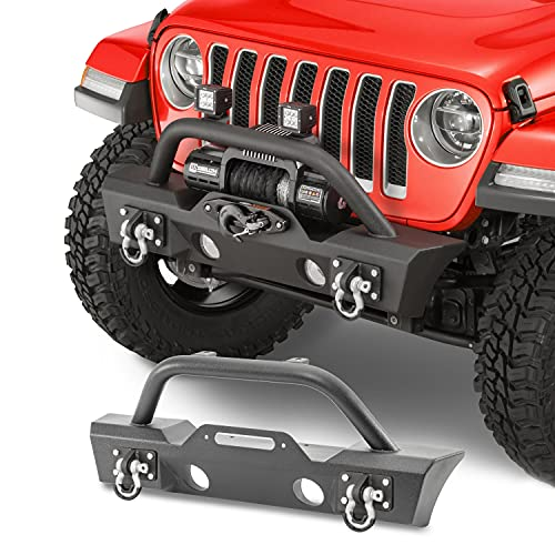TACTIK HD Stubby Front Bumper - Fits Jeep Wrangler JL and Gladiator JT...