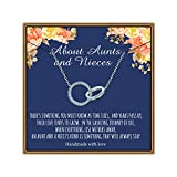 PAERAPAK Aunt Niece Gifts, Two Circles Necklace Gifts for Aunts from Niece Ifinity Circles Necklace...