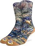 Good Luck Sock Men's Las Vegas Socks - Yellow, Adult Shoe Size 8-13