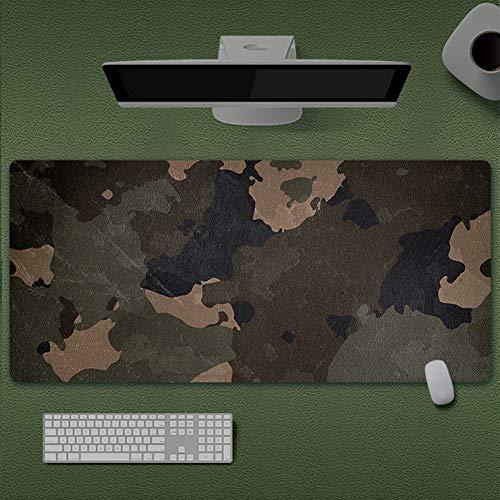 Insun Alfombrilla de Ratón Grande Alfombrilla Gaming Base de Caucho para Gamers Ordenador, PC y Portátil Arte Abstracto Camuflaje 30x78cm