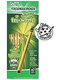 Ticonderoga Laddie Tri-Write Pencils, Wood-Cased #2 HB Soft, Intermediate Size Triangular with Eraser, Yellow, 36-Pack (13042)