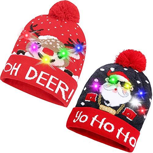 Camtop Weihnachtsmütze mit LED-Beleuchtung - mehrfarbig - Medium