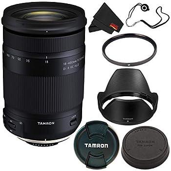 Tamron 18-400mm f/3.5-6.3 Di II VC HLD Lens Nikon F  International Model  + 72mm UV Filter + Lens Cap Keeper + Microfiber Cloth Bundle