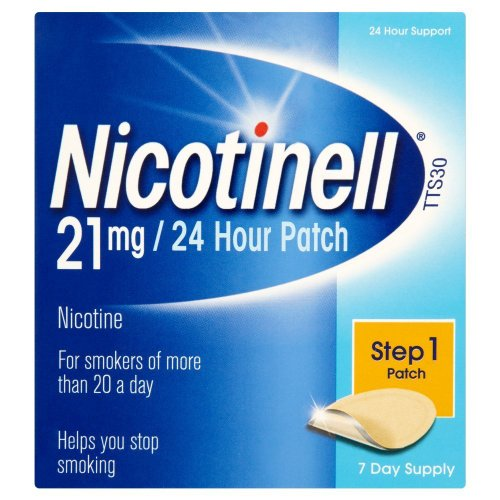 Nicotinell Nicotine Patch, Quit Smoking Aid Step 1, 24 Hour Patch, 21 mg, Pack of 7