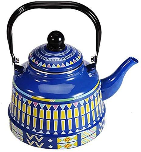 LLDKA Tetera Tetera Tetera Whistling Kettle 1,5 l / 2L / 2,5 l, inducción Esmalte de Peso Ligero de té Ollas, Tradicional/Retro Boquilla,3,2L