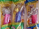 Set of Three Madagascar Pez Dispensers (Alex the Lion , Gloria the Hippo , and Marty the Zebra)