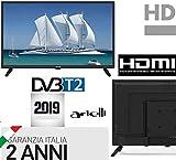 TV 22 POLLICI FULL HD ARIELLI DVB-T2 22' Con Digitale Terrestre T2 Garanzia...