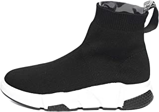Space Girl Shoes Fabric Socks Ankle Slip-on Type Boots (8, Black)