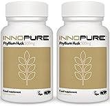 Pure Psyllium Husk Fibre Supplement (No Fillers or Binders) Duo Saver Pack 240 Capsules, 500mg per Capsule - Vegan, Vegetarian Society Approved