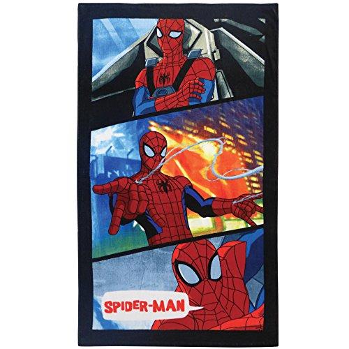 CTI Spiderman Power Badetuch, Baumwolle, blau, 70 x 120 cm