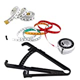 T&Kira 2020 New Body Fat Caliper and BMI Body Mass Index Measure Tape with Tailor Ruler, BMI Fat Skinfold Caliper Retractable Body Measuring Tape Fat Measuring Tool Kit for Fitness and Weight Loss