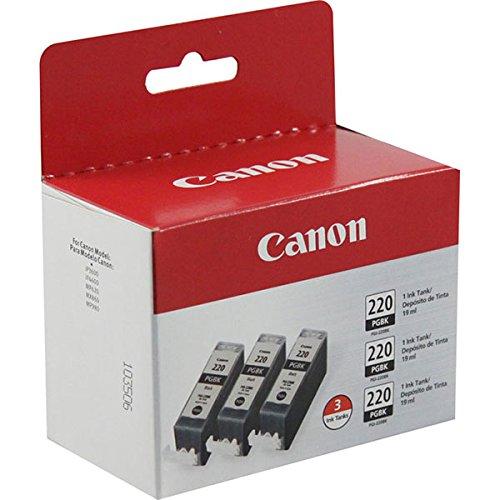 Canon Pgi-220 Multipack Ip3600/Ip4600/Mp620/Mp980 Pigment Black Ink Pack 3 Pack 2945b001